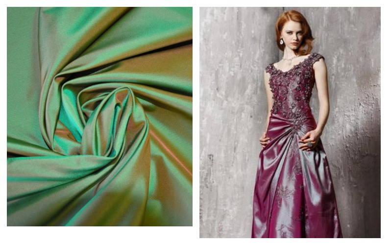 Платье из материала тафта