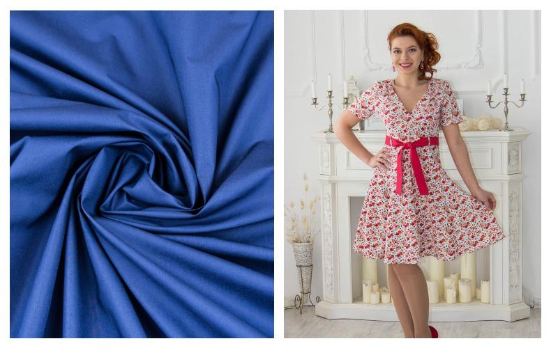 Девушка в платье из ткани поплин