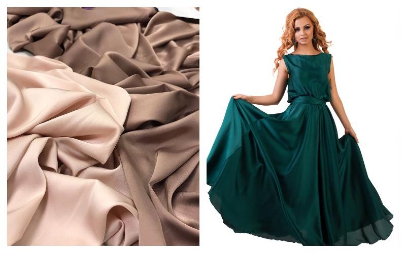 Ткань шелк армани и платье