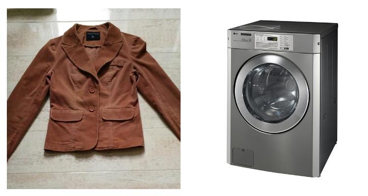 Стиральная машинка и пиджак