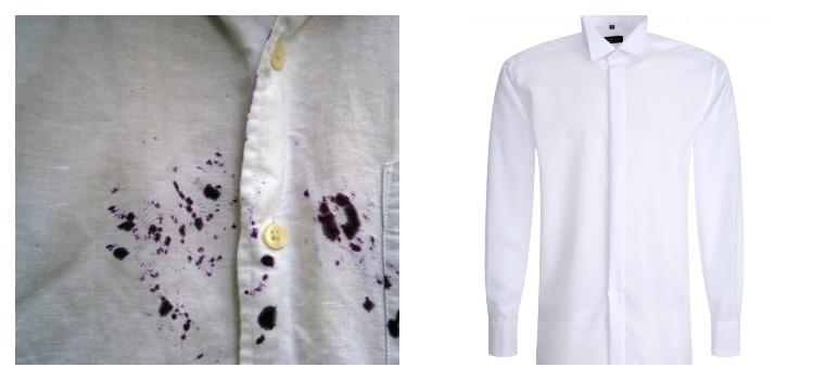 Рубашка в чернилах