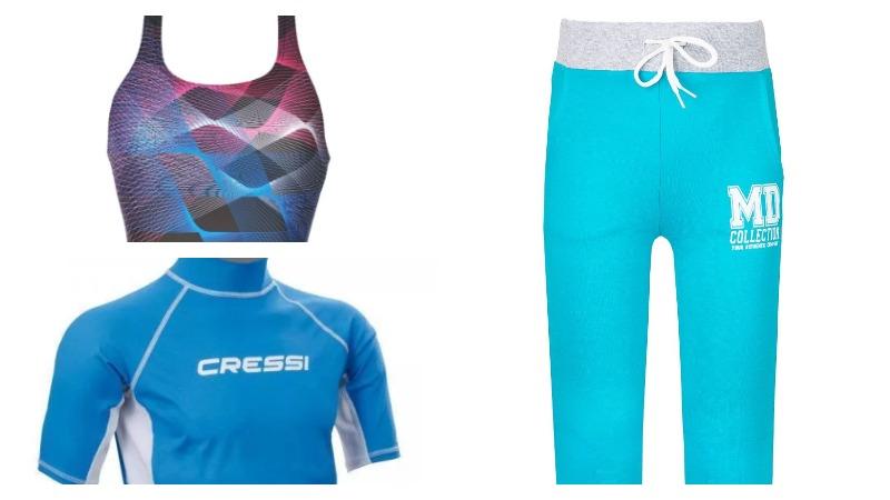 Спортивные брюки, купальник, футболка