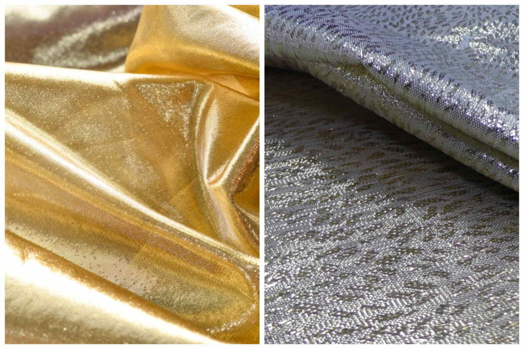 Ткань парча, золото и серебро