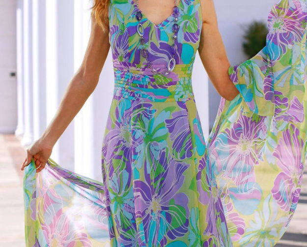 Платье из ткани Rayon