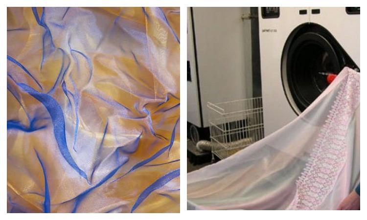 Органза и стиральная машинка