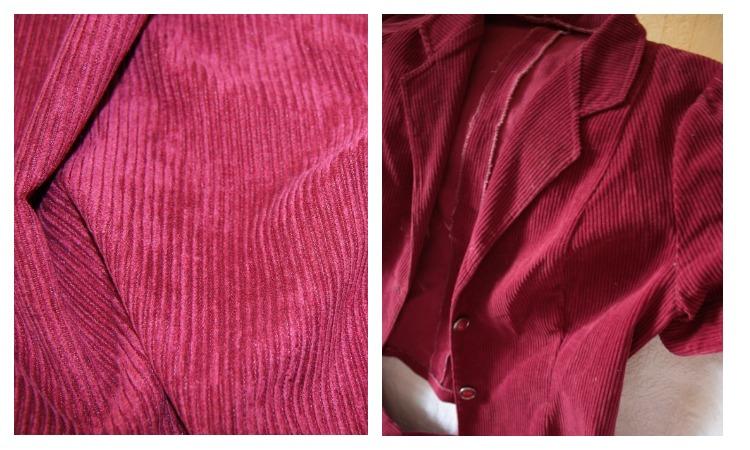 Пиджак из ткани вельвет