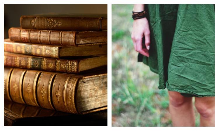 Книги и платье