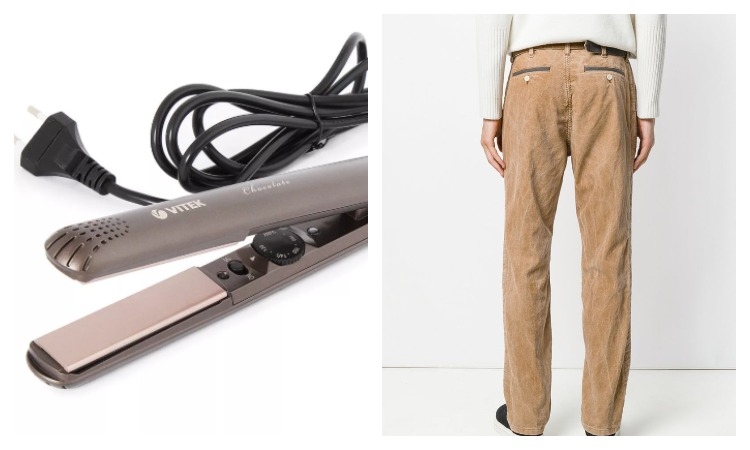 Утюжок для волос и брюки