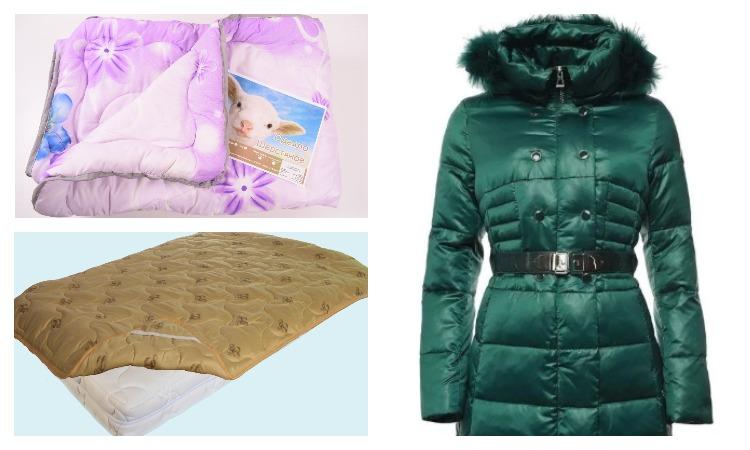 Одеяло, наматрасник и куртка