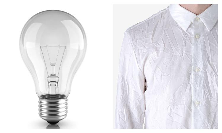 Лампа и рубашка