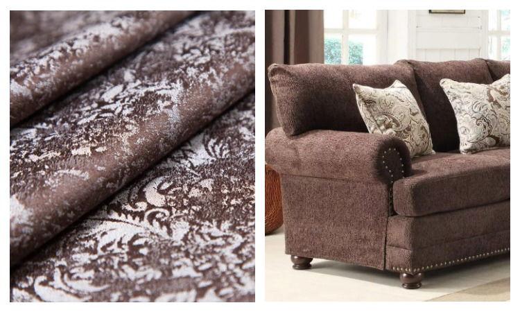 Ткань шенилл и диван из нее