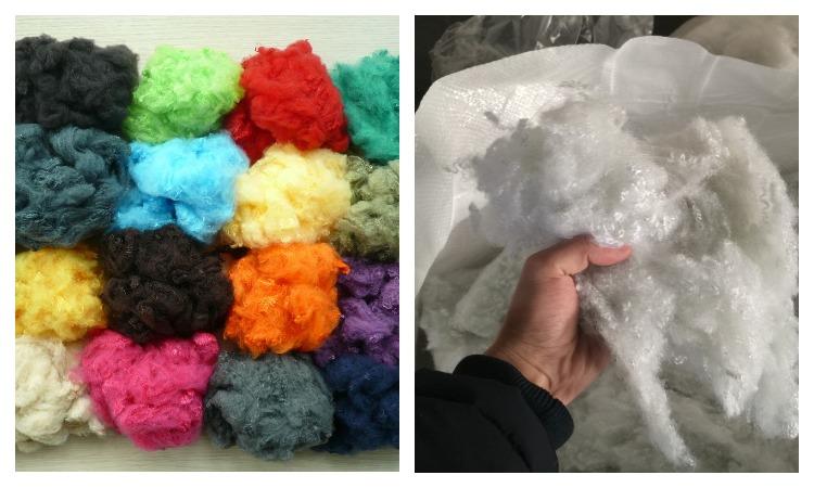 Полиэфирное волокна разных цветов