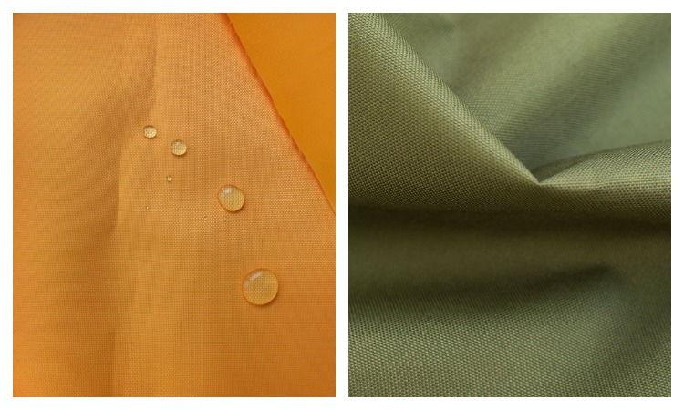 Ткань оксфорд желтого и цвета хаки