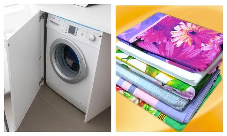 Стиральная машинка и ткани