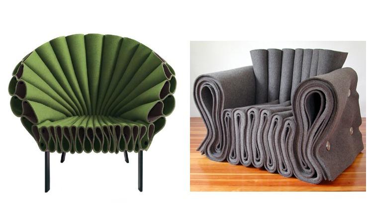 Кресла из ткани фетр