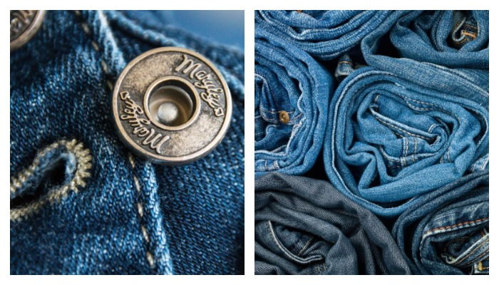 Пуговица на джинсах и джинсы