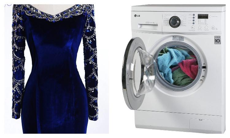 Платье и стиральная машинка