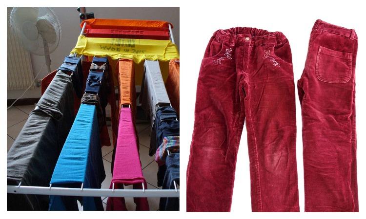 Сушка вельветовых брюк