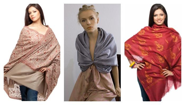 Применение ткани пашмин