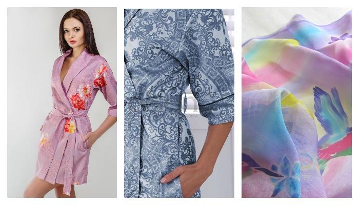 Женские халаты из ткани мако сатин