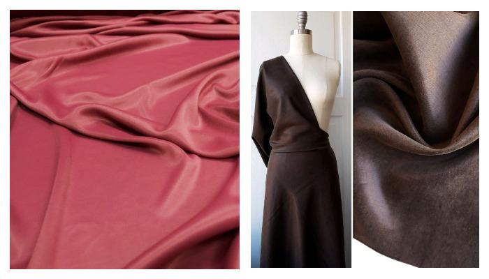 Платье из ткани купра