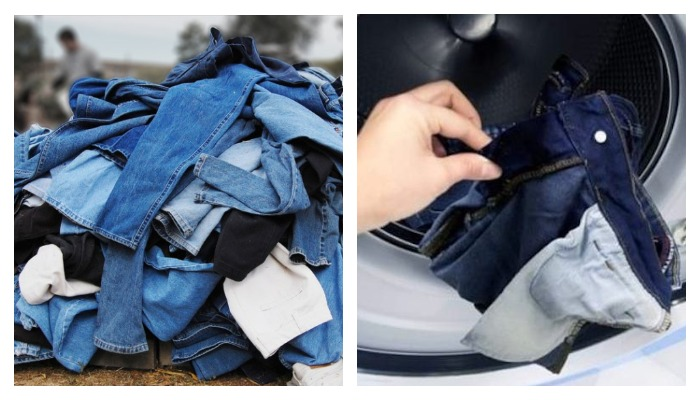 С чем стирают джинсы