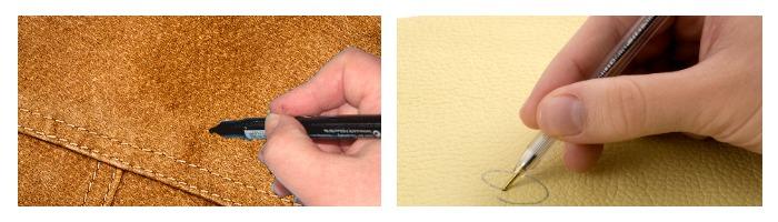 Ручка на коже и замши