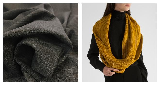 Девушка в шарфе из ткани ПАН