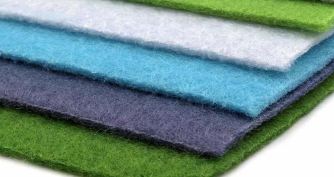 Войлок в разных цветах