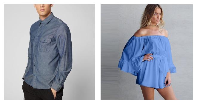 Платье и рубашка из ткани