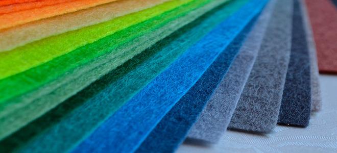 Фетр в разных цветах