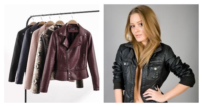 Кожаные куртки и девушка