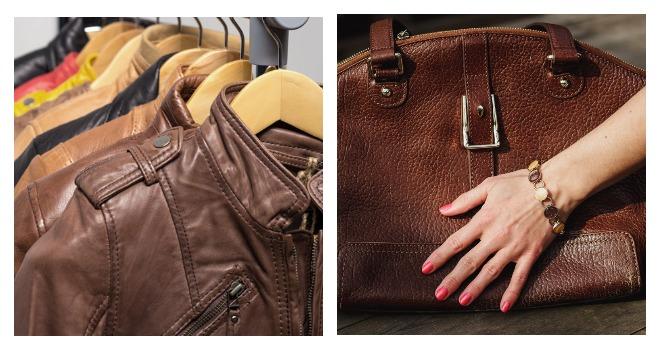 Кожаные куртки и сумка