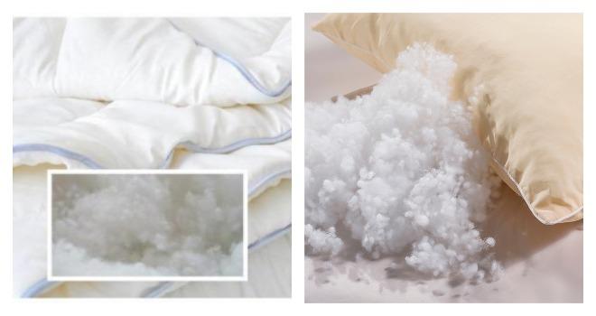 Одеяло и подушка из холлофайбера