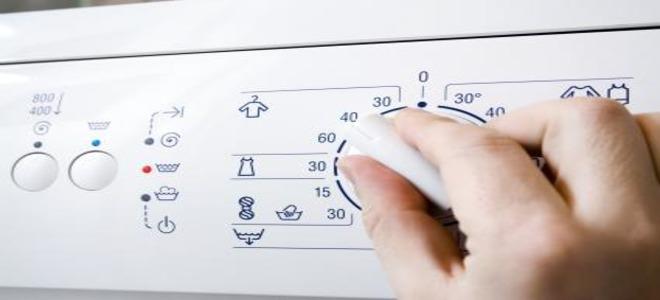 Выбор градусов на стиральной машине