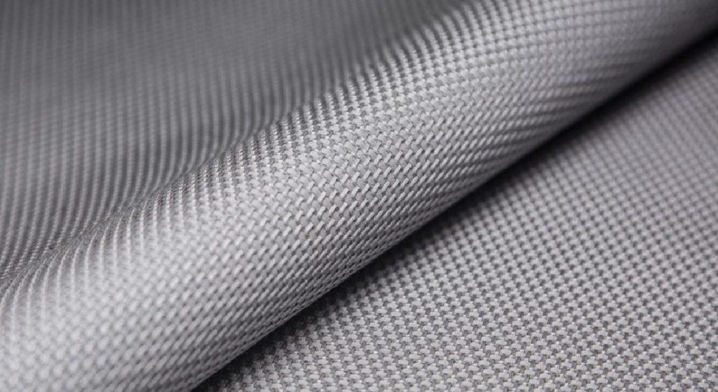 Ткань из бальзатового волокна вблизи