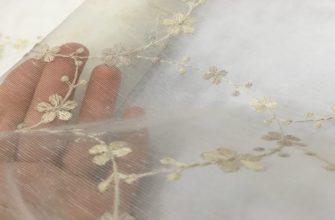 Ткань виссон с шитьем