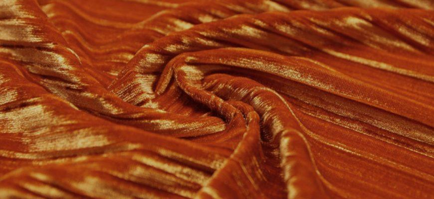 Ткань гофре вблизи