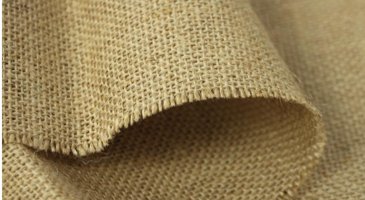 Кромка джутовой ткани