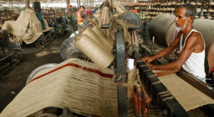Производство джутовой ткани