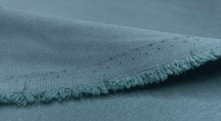 Ткань гальяно джинсового цвета