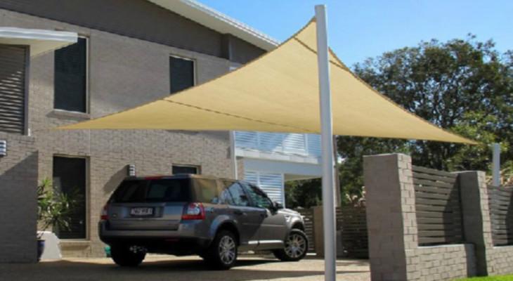 Тент для защиты машины из ткани дакрон