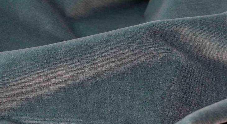 Ткань дралон серо-голубого цвета