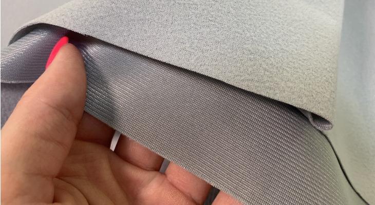 Ткань каризма серого цвета