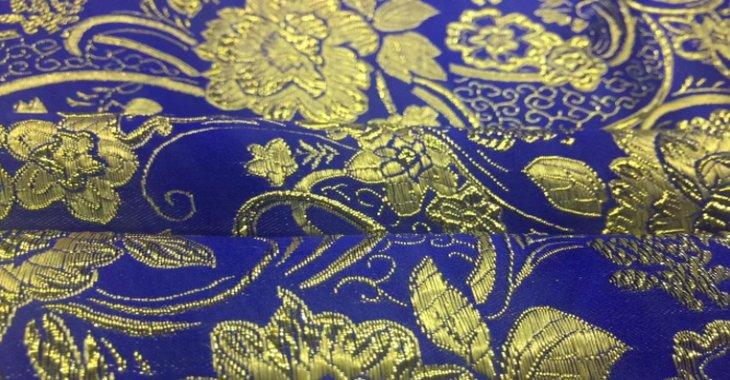 Ткань албас синего цвета