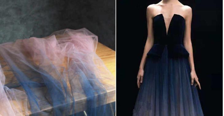 Платье из ткани газ