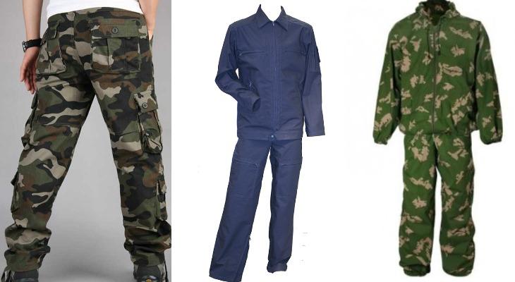 Одежда из ткани диагональ
