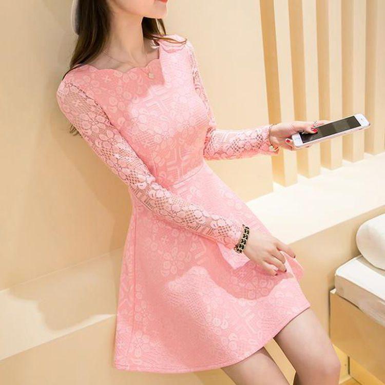 Женское платье из кримплена