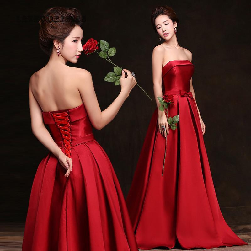 Вечерние платье из красного прадо