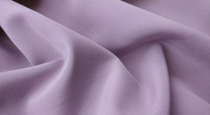 Ткань кади, цвет — сиреневый